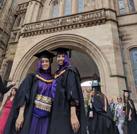 Two recent Optometry graduates from The University of Manchester