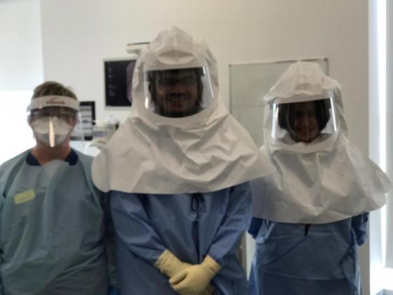 Dr Huzaifa Adamali and colleagues at Bristol's Southmead